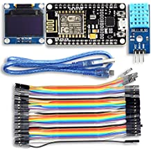 """UCTRONICS ESP8266 Weather Station IoT Starter Kit for Arduino IDE with ESP8266 ESP-12E Development Board 0.96"""" OLED Display and DHT11 Temperature and Humidity Sensor"""