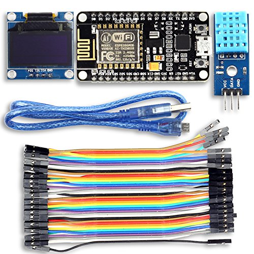 Name: UCTRONICS ESP8266 Weather Station IoT Starter Kit Specification:  ESP8266 ESP-12E Development Board 802.11 b/g/n protocol Wi-Fi Direct (P2P), soft-AP Integrated TCP/IP protocol stack Integrated TR switch, balun, LNA, power amplifier and matchin...