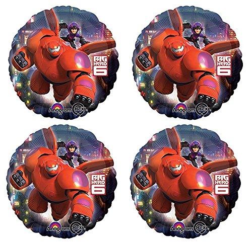 "Price comparison product image Disney Big Hero 6 Birthday Party Favor Supplies 4x Foil Mylar 18"" Balloon"