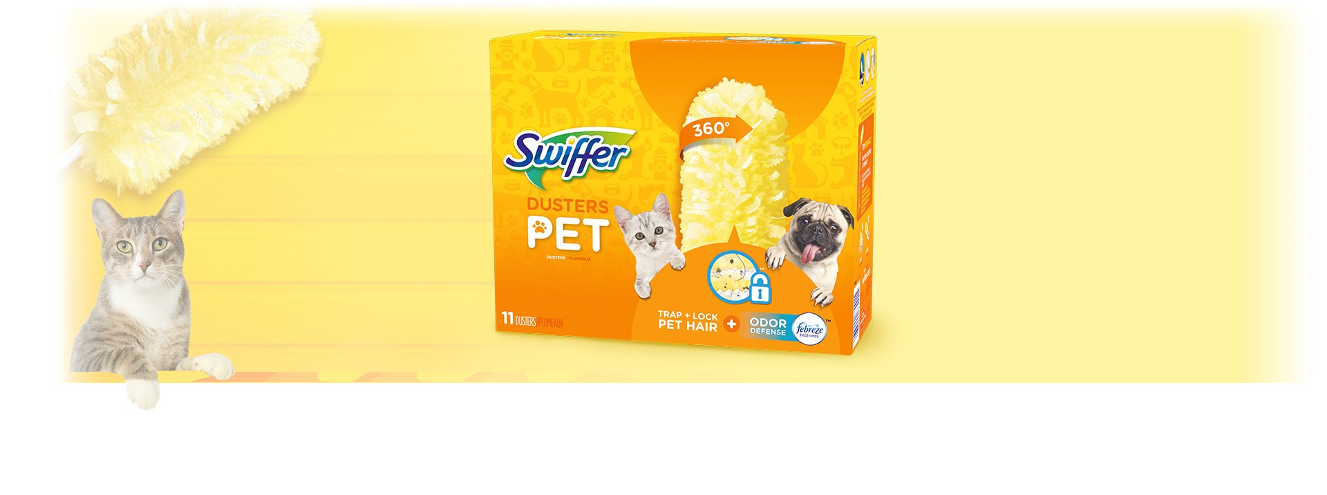 Swiffer 360 Dusters Multi Surface Pet Refills, Febreze Odor Defense, 11 Count by Swiffer (Image #2)
