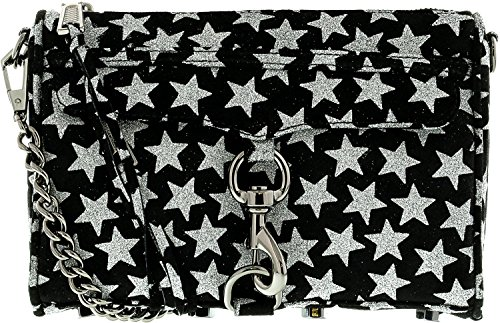 Rebecca Minkoff Women's Glitter Star Mini Mac Cross Body Bag, Black, One Size (Rebecca Minkoff Mini Mac)