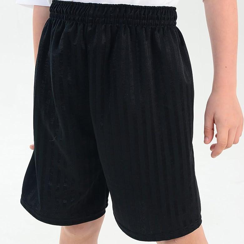 adam /& eesa Shadow Stripe Gym Sports Games School PE Shorts Boys Girls Unisex