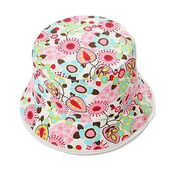 df56e2b4302 Amazon.com  POSE Floral Baby Girl Sun Cap Infant Floppy Summer Hat Toddle Bucket  Hat 51 CM  Baby