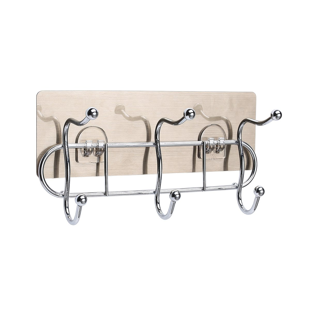 Metrekey Powerful Adhesive Hooks For Bathroom Wall Heavy Duty Towel Hanger Kitchen Door Multifunctional Key Holder Stainless Stell