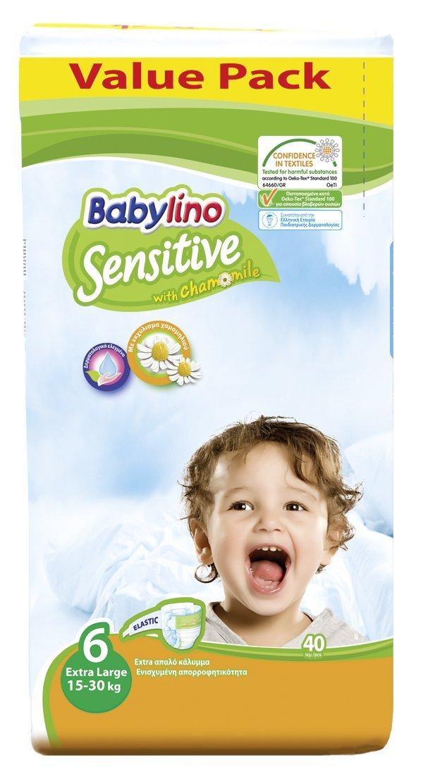 Pannolini Babylino Sensitive ECONOMY Taglia 6 da 15 a 30 Kg.// 40 PCS