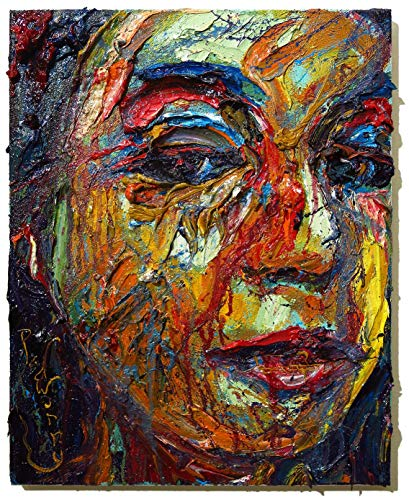 (UNTITLED m1079 - Original oil painting abstract)