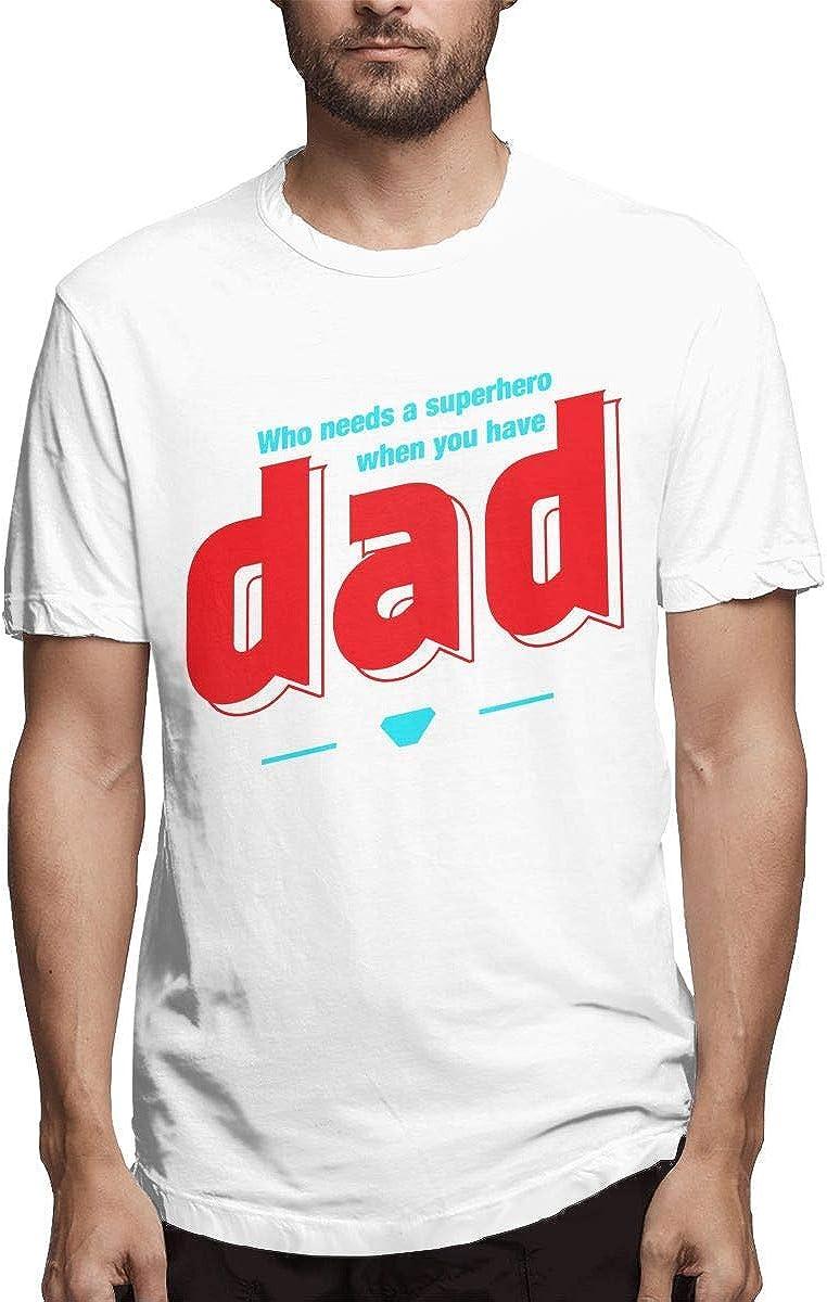 Quién Necesita un superhéroe Cuando Tienes a tu papá Moda Hombre Camiseta Algodón Casual Manga Corta 5XL: Amazon.es: Ropa y accesorios