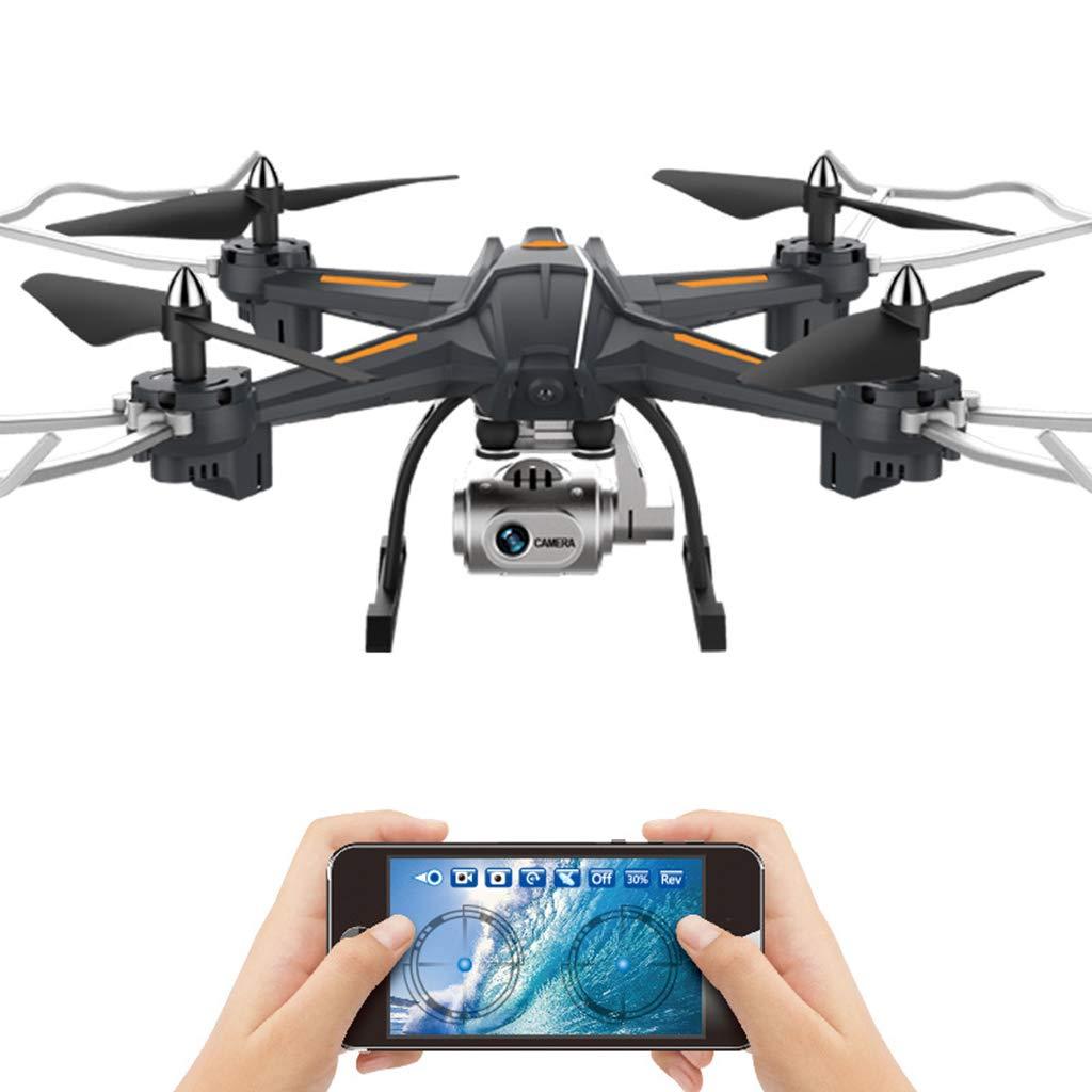 schwarz BHM Spielzeugflugzeug, Hochwertiges Vierachsiges Flugzeug, HD-Drohne Aus Der Luft, Ferngesteuertes Spielzeug Für Jungen, Hubschrauber Zum Aufladen Von Kinderspielzeug