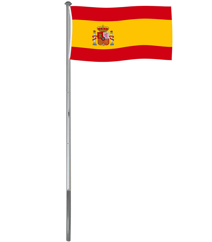 Mástil bandera de España