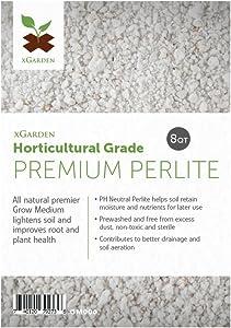 xGarden 8 Quarts Horticultural Grade Premium Perlite - Coarse and Chunky