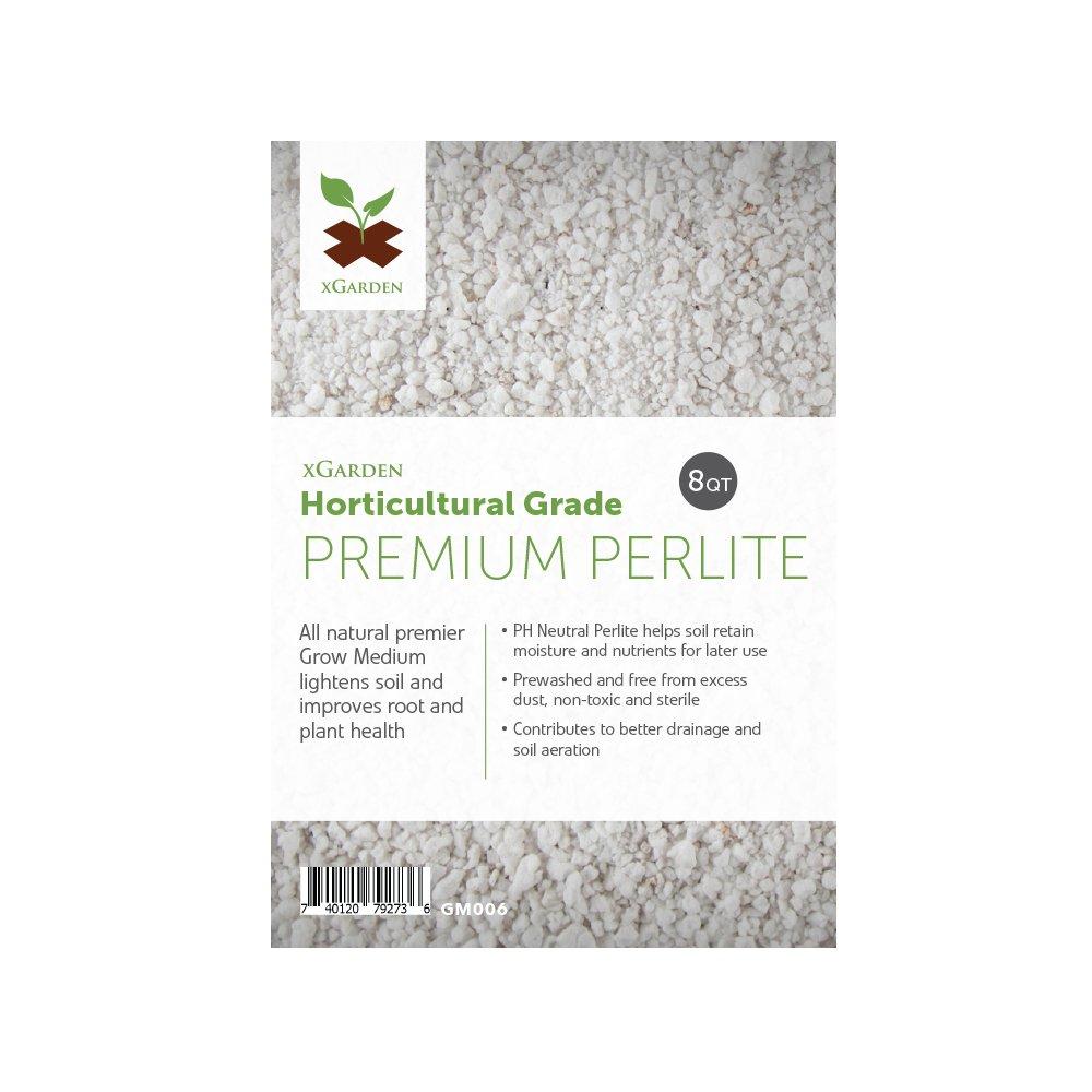8 Quarts xGarden Horticultural Grade Premium Perlite - Coarse and Chunky