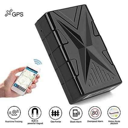 QearFun Vehículo Impermeable Rastreador GPS Dispositivo de rastreo magnético Fuerte Localizador de rastreadores de automóviles con