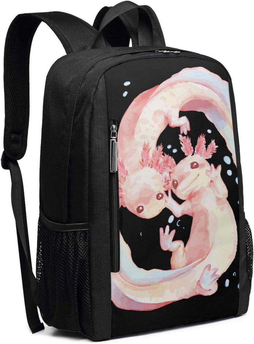 Axolotl School Rucksack College Bookbag Lady Travel Backpack Laptop Bag for Boys Girls