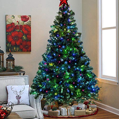 Artificial Christmas Tree With Multicolor Led Lights