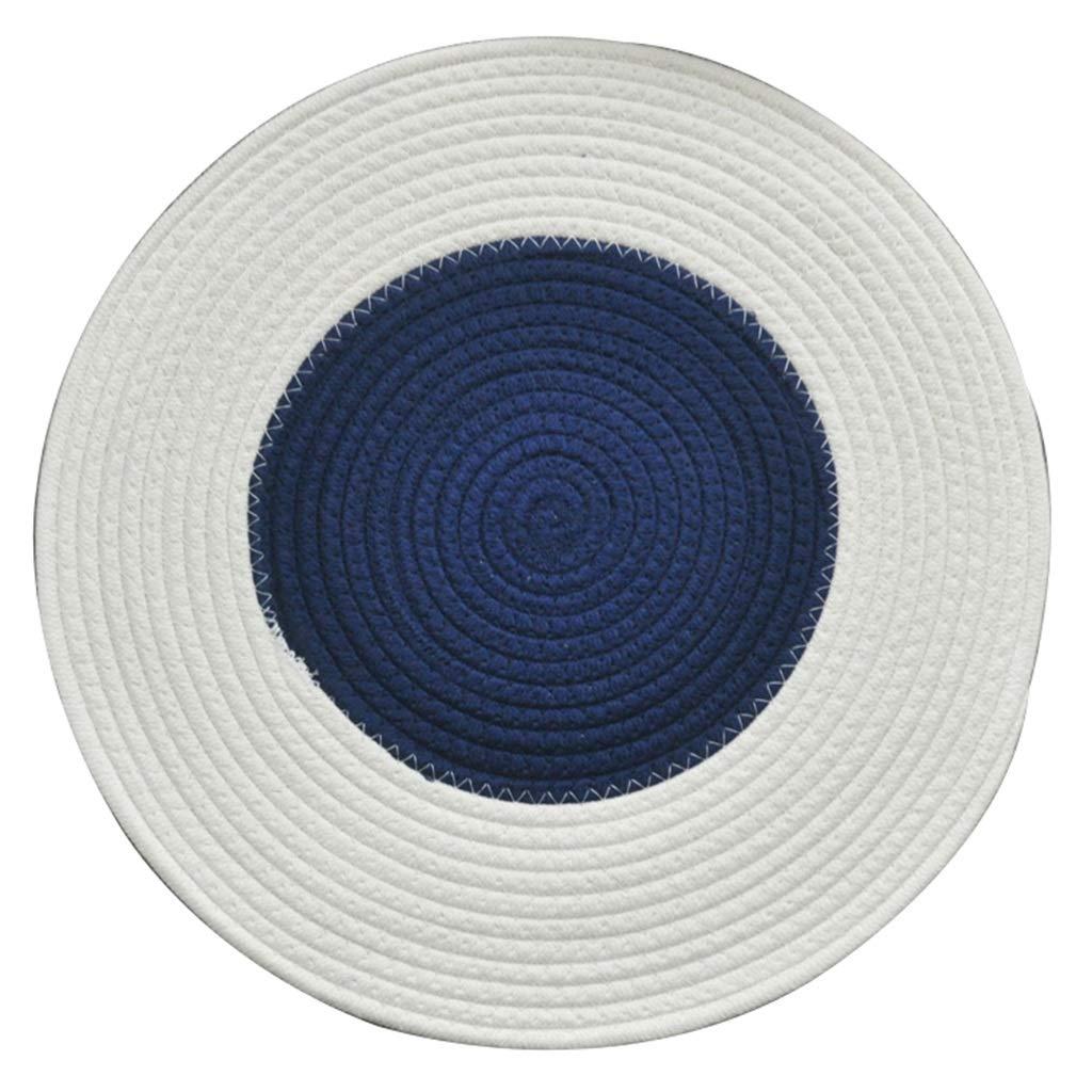 Amazon.com: Pure Hand-Woven Cotton Thread Round Carpet ...