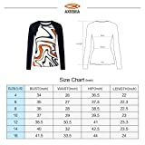 AXESEA Womens Rash Guard Long Sleeve Swim Shirt UPF 50+ Swimsuit Athletic Top
