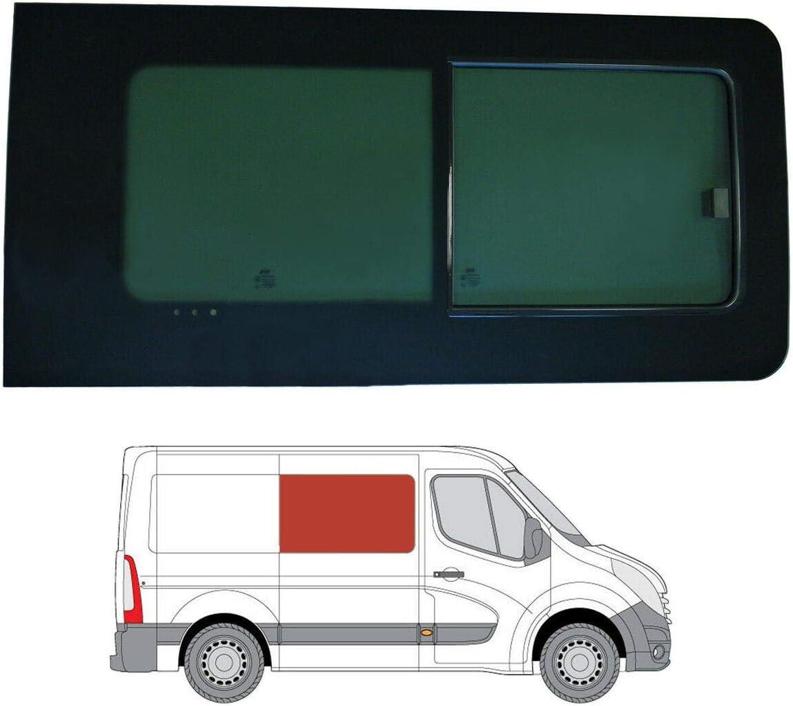 Mano derecha, tintado oscuro apertura ventana para Panel lateral OPP. Puerta Corredera Renault Master (2010 ON) [L2, L3, L4]: Amazon.es: Coche y moto