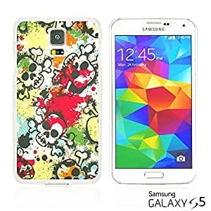 OnlineBestDigitalTM - Skull Pattern Hardback Case for Samsung Galaxy S5 - Colorful Skull