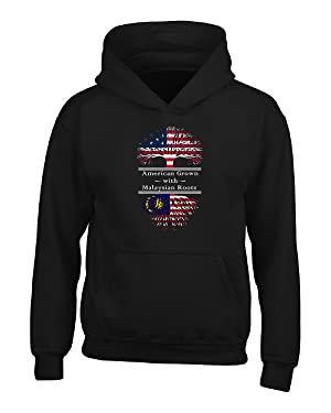 American Grown With Malaysian Roots Malaysia Great Gifts - Adult Hoodie
