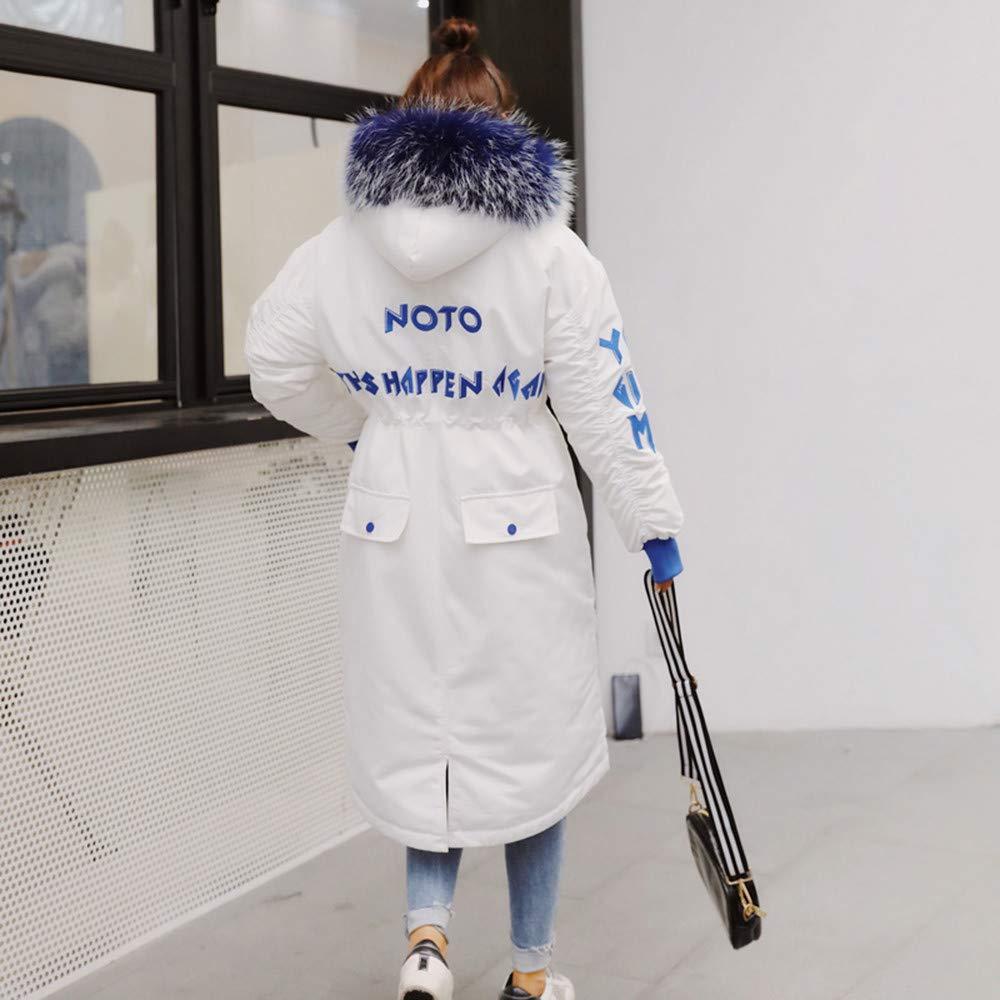 Linlink Mujeres Invierno Caliente Letra Imprimir Abrigos con Capucha Capa Delgada de algodón Acolchado Chaqueta: Amazon.es: Ropa y accesorios