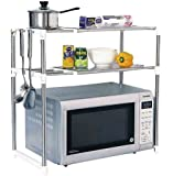House Of Quirk Double Design Stainless Steel Microwave Oven Rack