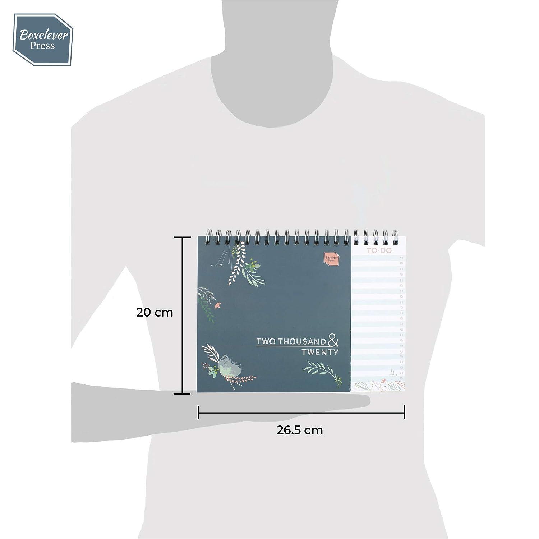 Dezember 2020 Januar 12-monatiger Kalender 2020 Tischkalender Idealer Planer 2020 f/ür Zuhause oder das B/üro mit separater To-do-Liste Boxclever Press Everyday Tischkalender 2020 mit Monatsansicht