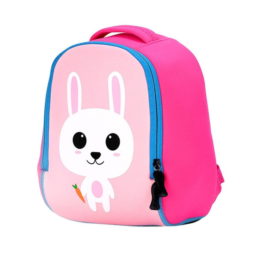Vibola Child Backpack Toddler School Bags Kindergaten Cartoon Kid Bookbags (Pink)