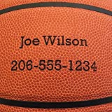 Personalized Basketball - Baden Game Approved Basketball - Your Name and Phone Permanently Laser Marked - 28.5' 'Elite' Ball with Plain Font