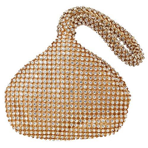 - BABEYOND 1920s Flapper Handbag Clutch Gatsby Crystal Handbag Roaring 20s Evening Clutch Bag 1920s Gatsby Costume Accessories (Gold)