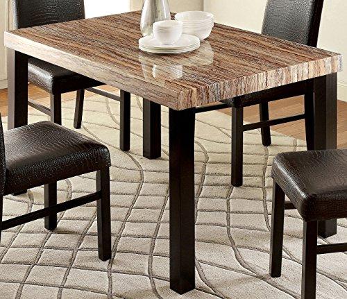 Furniture of America Bahia Contemporary Faux Marble Top Dining (Bahia Stone)