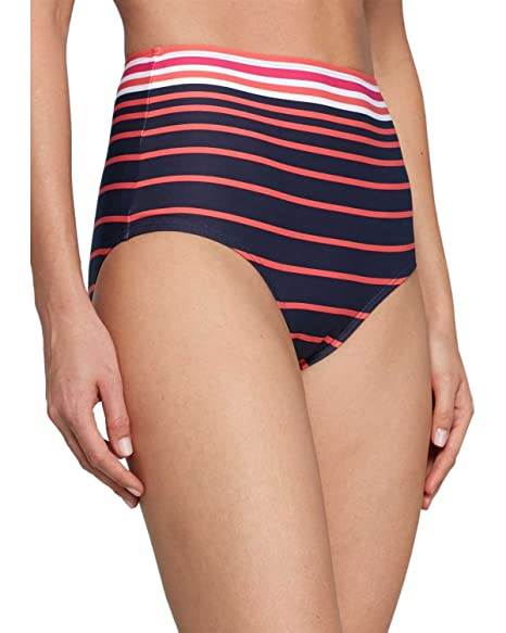 358d490363 Amazon.com: Michael Kors Womens Abby Stripe High-Waist Bikini Bottoms  X-Small Pink Swimsuit: Clothing
