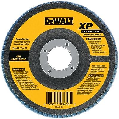 DEWALT DW8254 4-1/2-Inch by 5/8-Inch-11 40g XP Flap Disc