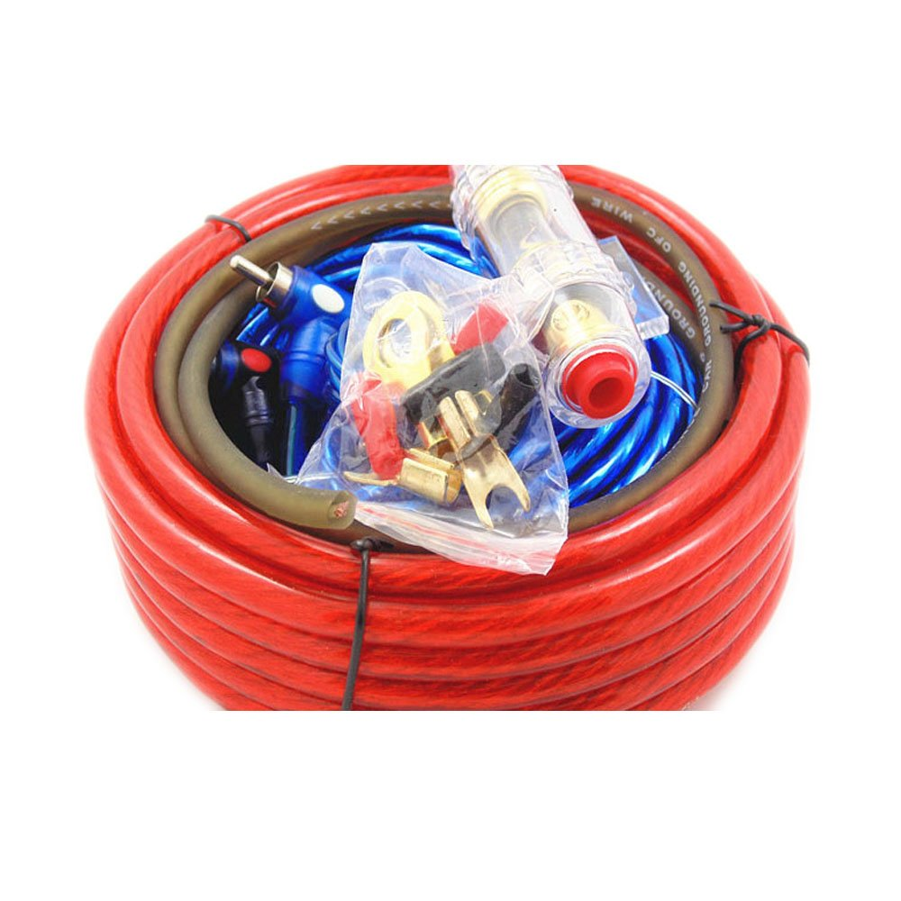 VIGORWORK 1500W Car Audio Wire Wiring Amplifier Subwoofer Speaker Installation Kit 8GA Power Cable 60 AMP Fuse Holder