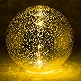 Trademark Innovations 8'' Mercury Glass Gazing Ball with Light Up Battery by