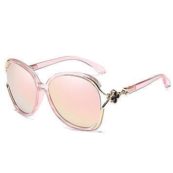 LQQAZY Gafas De Sol Polarizadas Señoras Gafas De Sol Cara Redonda Marea Protección UV Gafas,