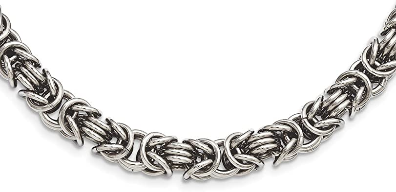 mens womens Stainless Steel Chain Necklace Snake Link Silver Necklace Unisex Wedding Necklace Aooaz Jewelry