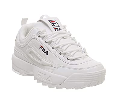 b0d16bcc680b Fila Women's Shoes Low Sneakers 1010302.1 Disruptor Low Wmn White 4 B(M)  US: Buy Online at Low Prices in India - Amazon.in