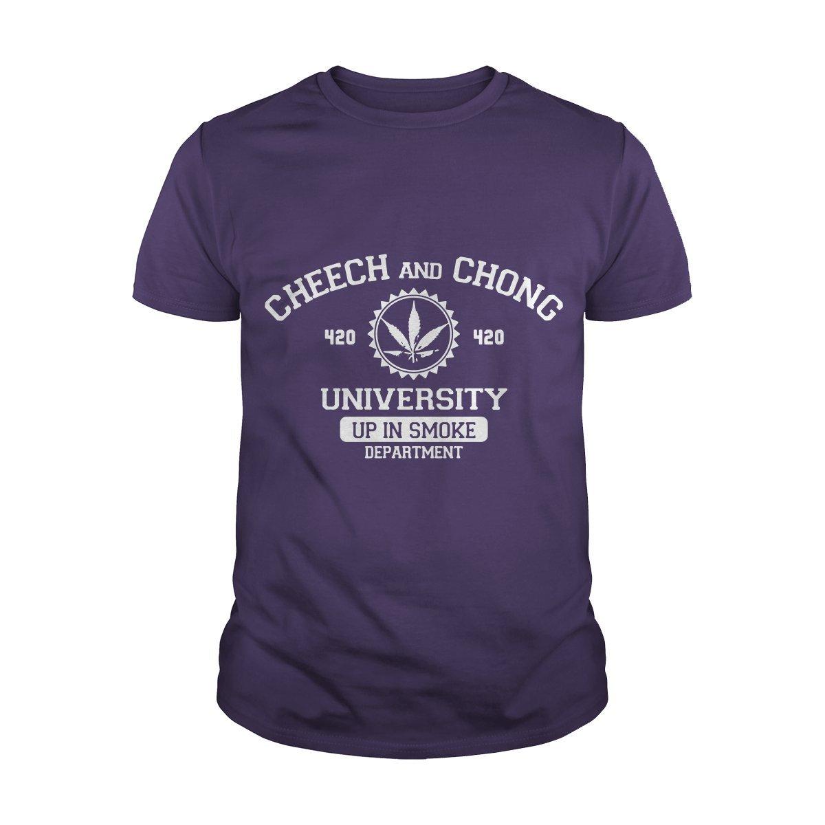 Guys Tee Purple XLarge Cheech and Chong University TShirt