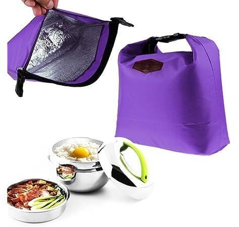 Bolsa T/érmica Paquetes Aislado de Comida Desechable Reutilizable Bolsas Bocadillos para Comidas para Llevar Camping Viajes
