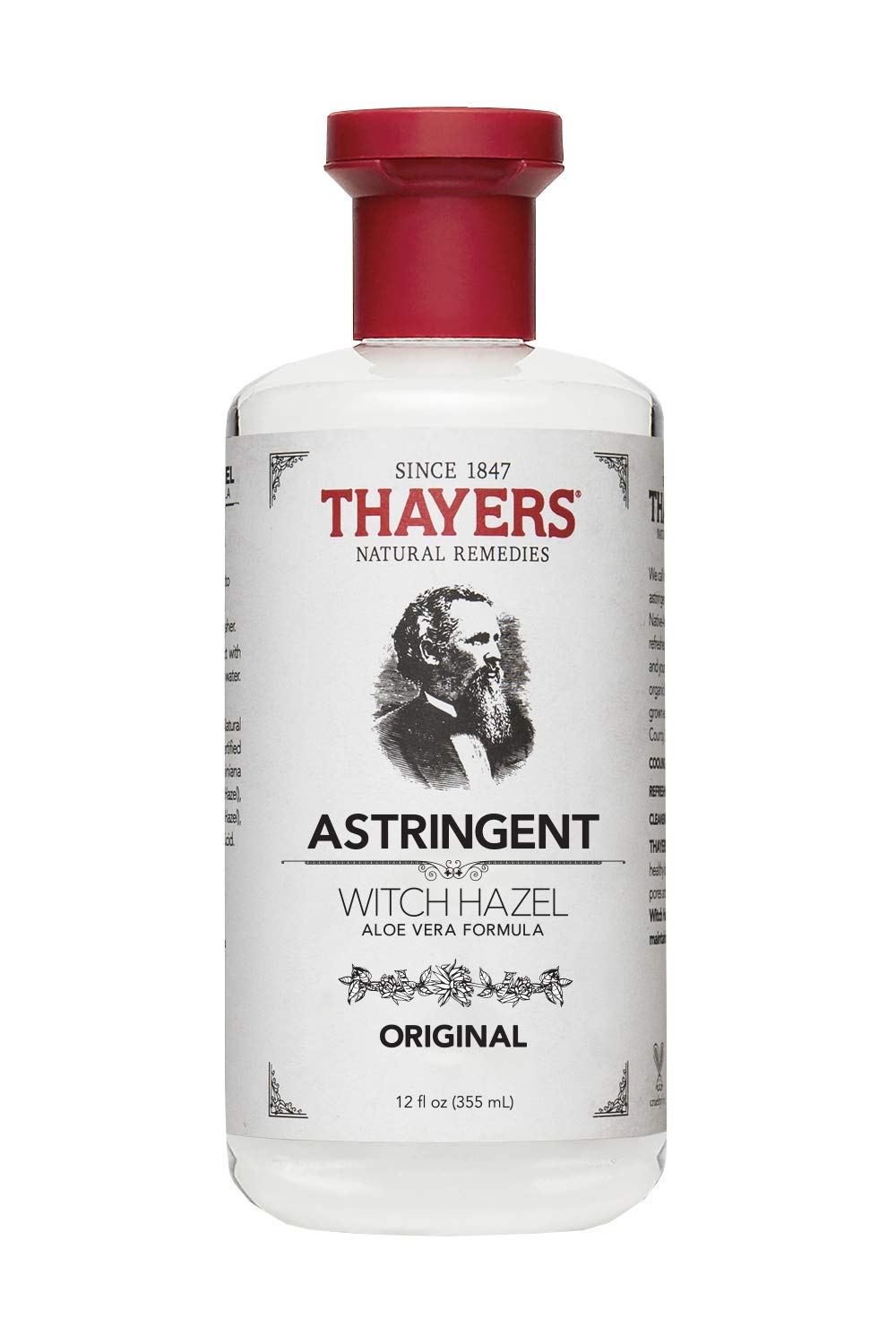 Thayers Witch Hazel with Aloe Vera, Original Astringent, 12 OZ