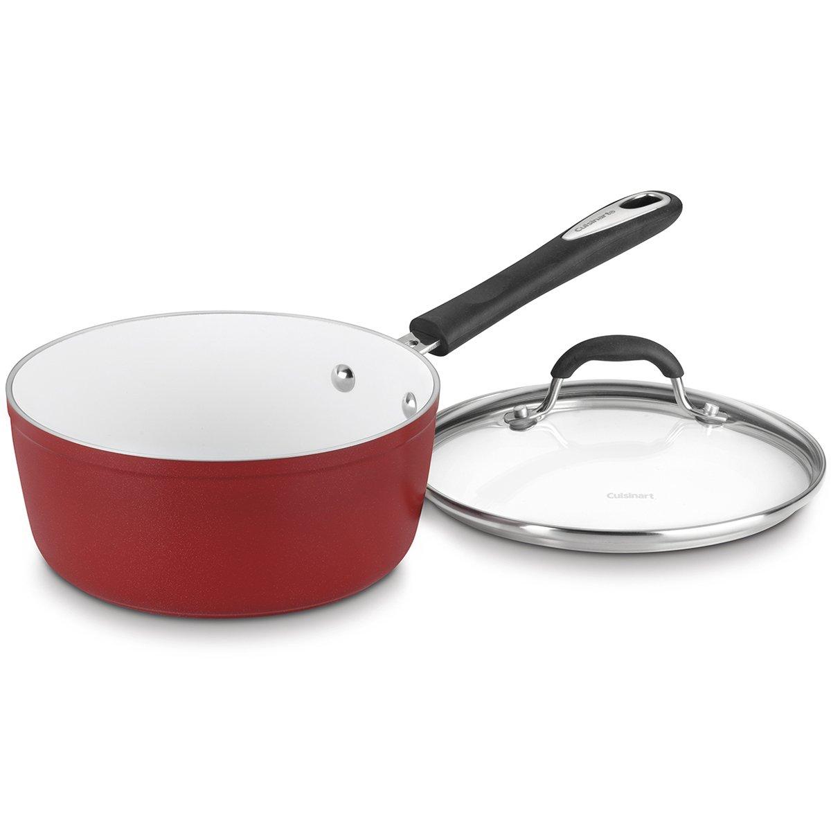 Cuisinart 5919-18R Elements Saucepan, 2-Quart, Red