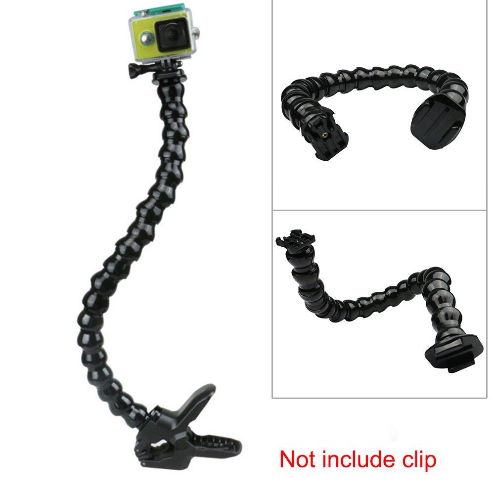 SDYDAY Pince Clip Support de Fixation Bras de Cou pour GoPro Réglable, Support Flexible Souple Tuyau pour GoPro Hero 1/2/3/3+/4/5for SJ 4000/5000/6000Caméra de Sport Noir