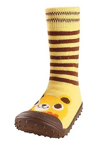 Bebé Antideslizante Calcetines Pasos Zapatos primeros Animados De Disbujos dCBxoe