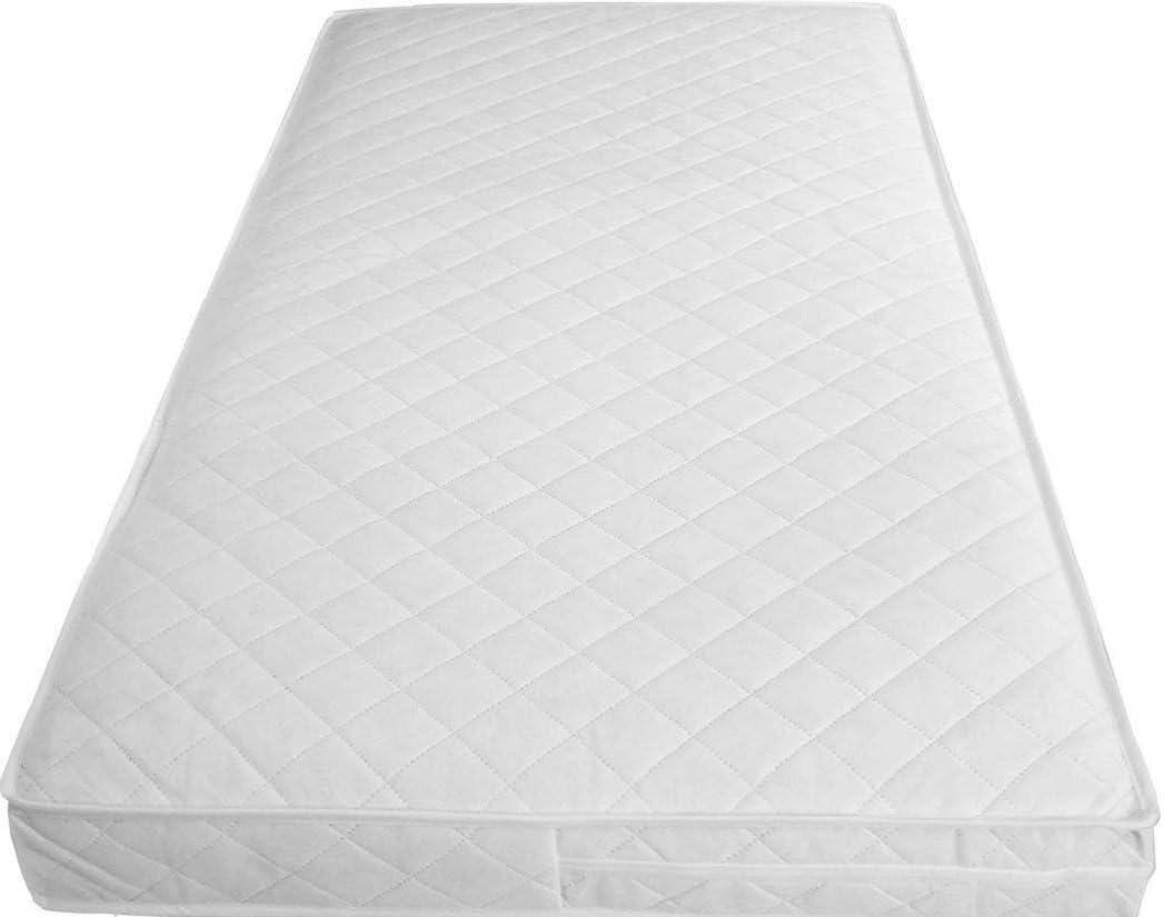 Inspire bebé cuna acolchada/impermeable transpirable suave Cuna sana colchón con cremallera cubierta, 160 X 70 X 10 CM