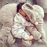 YESURPRISE 60cm Baby Toddlers Stuffed Gray Elephant Plush Pillows Pre-Kindergarten Toys Cushion
