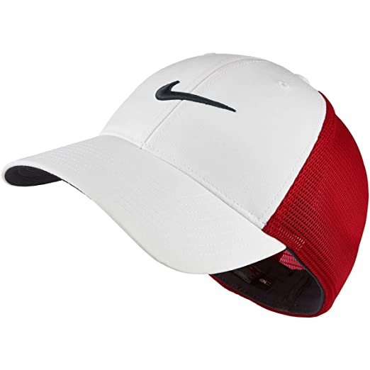 4973085213d86 NIKE Golf CLOSEOUT Legacy 91 Tour Mesh Fitted Hat UNIVERSITY RED WHT  727031-657