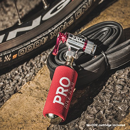 Pro Bike Tool CO2 Inflator - Quick & Easy - Presta Schrader Valve Compatible - Bicycle Tire Pump Road Mountain Bikes - Insulated Sleeve - No CO2 Cartridges Included by Pro Bike Tool (Image #3)