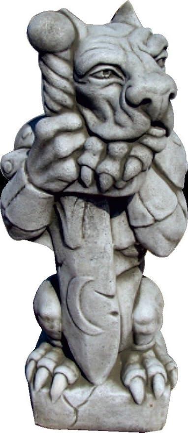 DEGARDEN AnaParra Figura Decorativa Gargola de hormigón-Piedra para jardín o Exterior 51cm.: Amazon.es: Jardín