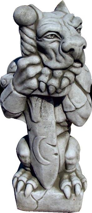 Figura Gargola De Piedra Para Jardin O Exterior 51cm Amazon Es Jardin