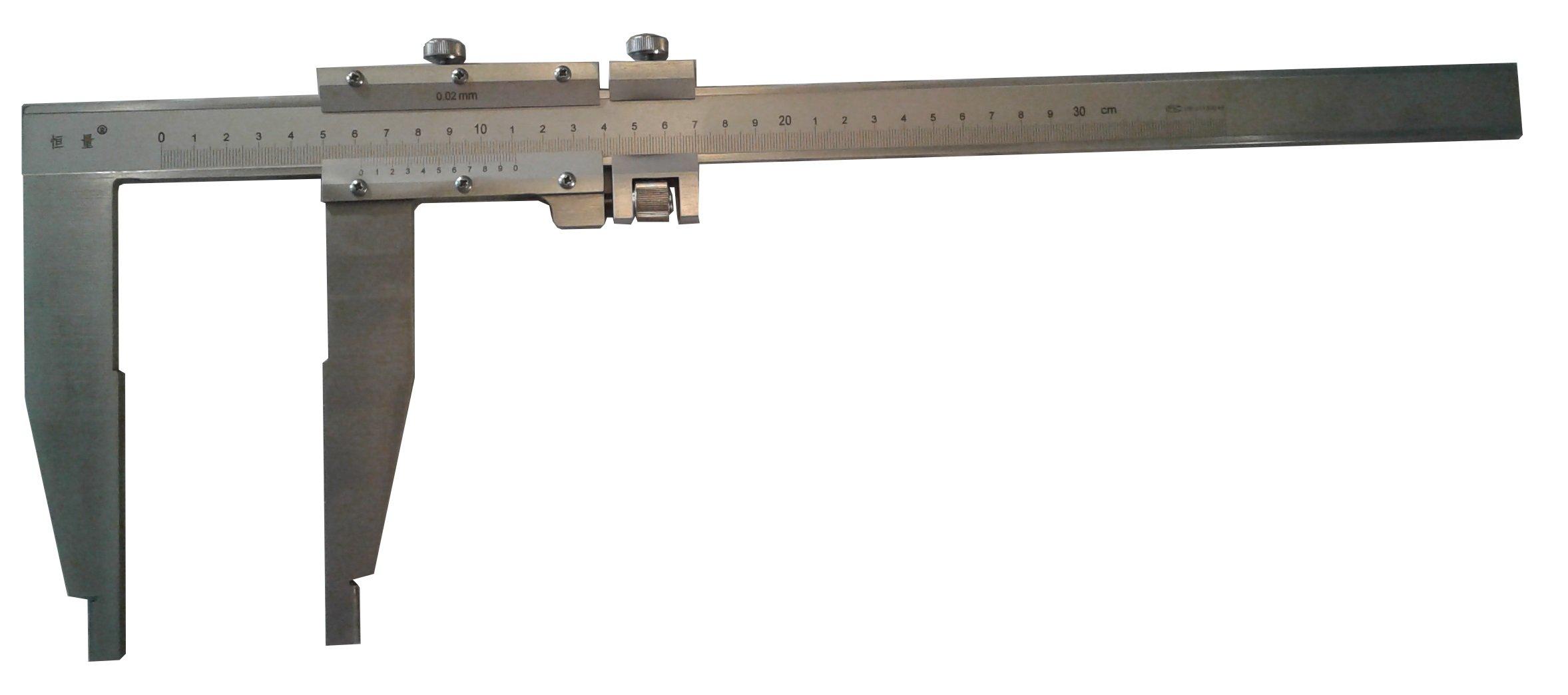 Long Jaw Vernier Caliper 300mm 12'' Heavy Duty Steel w/ Case by Generic (Image #1)